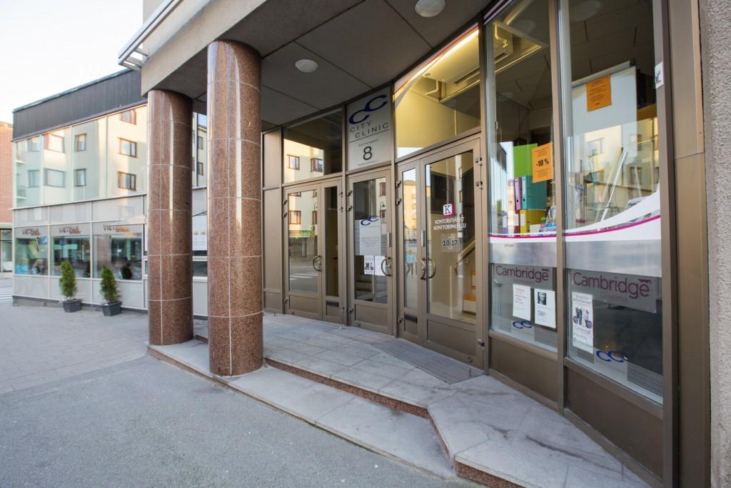 Kontor Jakobstad, Ingång från styrmansgatan